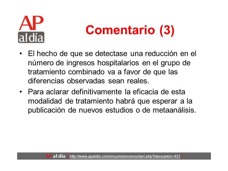 AP al día [ http://www.apaldia.com/resumenes/resumen.php?idresumen=451 ] Comentario (3) El hecho de que se detectase una reducción en el número de ing