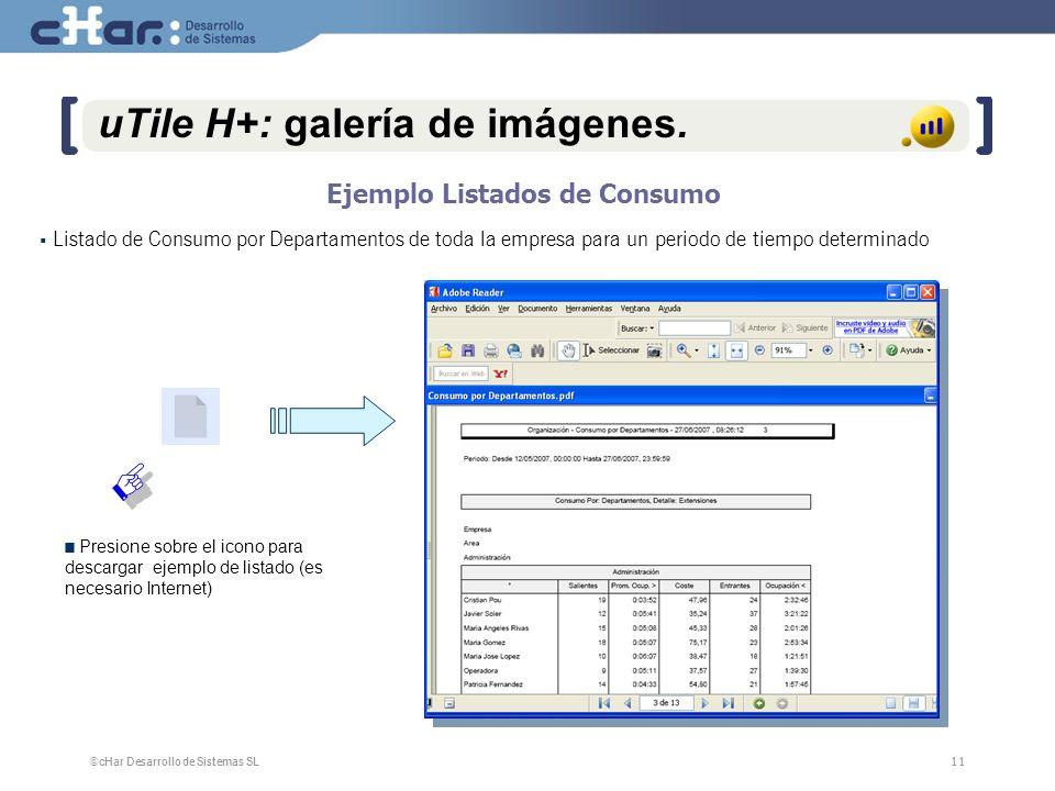 ©cHar Desarrollo de Sistemas SL / 200711 uTile H+: galería de imágenes.