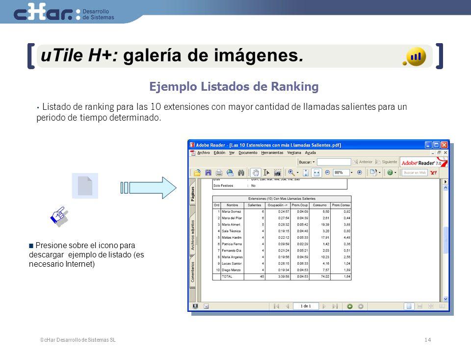 ©cHar Desarrollo de Sistemas SL / 200714 uTile H+: galería de imágenes.