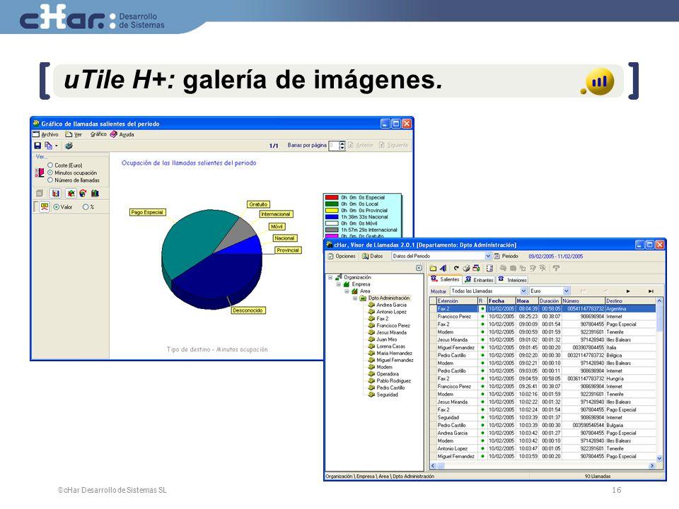 ©cHar Desarrollo de Sistemas SL / 200716 uTile H+: galería de imágenes.