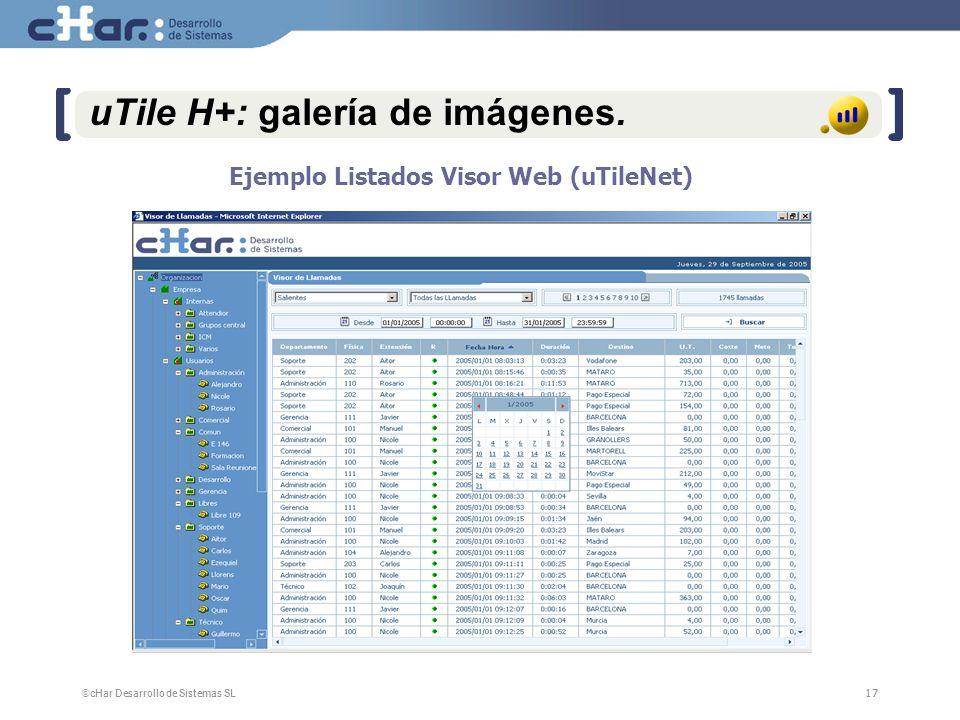 ©cHar Desarrollo de Sistemas SL / 200717 uTile H+: galería de imágenes.