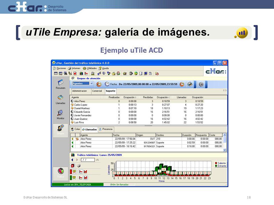 ©cHar Desarrollo de Sistemas SL / 200718 uTile Empresa: galería de imágenes. Ejemplo uTile ACD