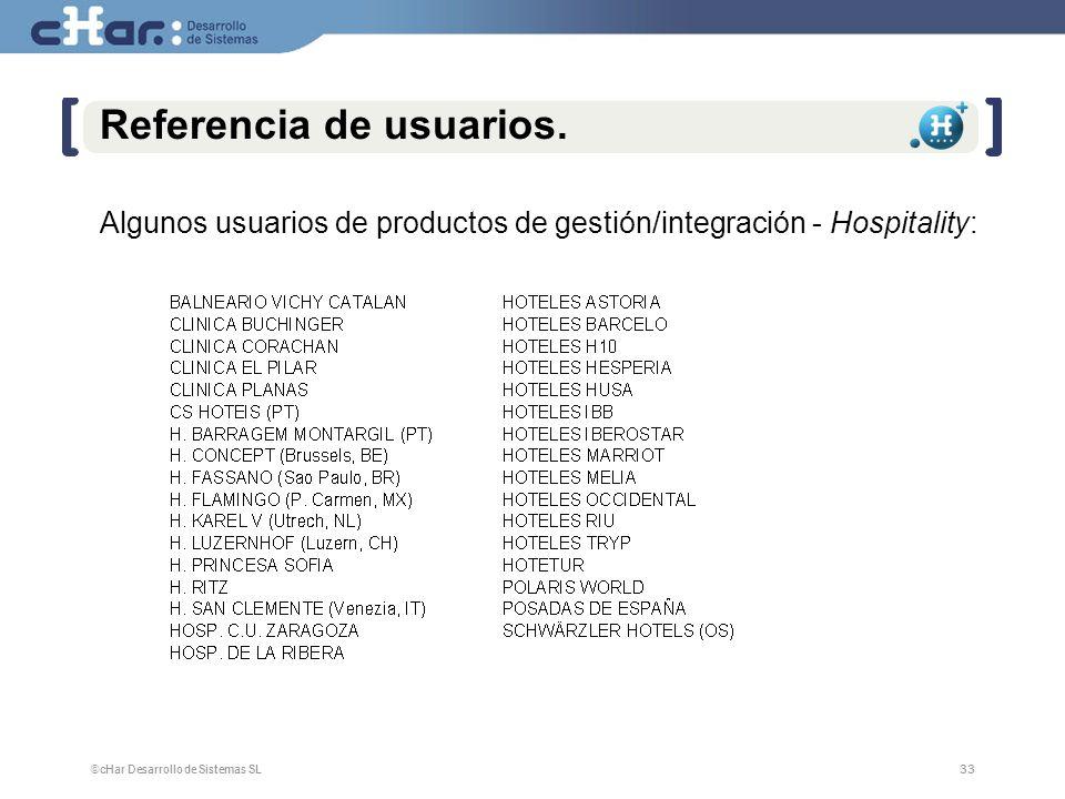©cHar Desarrollo de Sistemas SL / 200733 Referencia de usuarios.