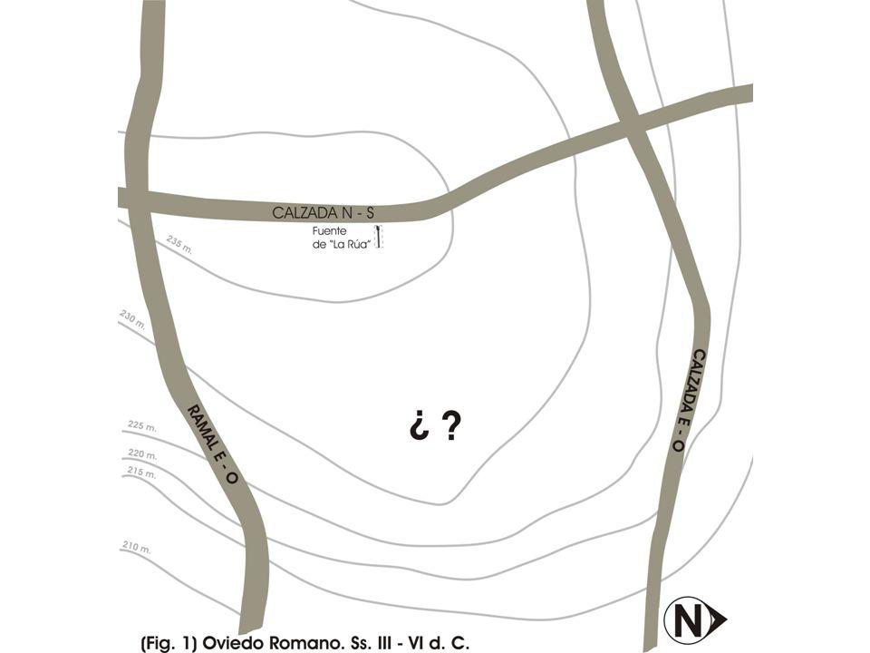 Alfonso III, a partir de 866, establece una ciudad civil fuera de los límites de la Civitas Episcopal,con dos polos de fundación regia: su palacio, al NO.