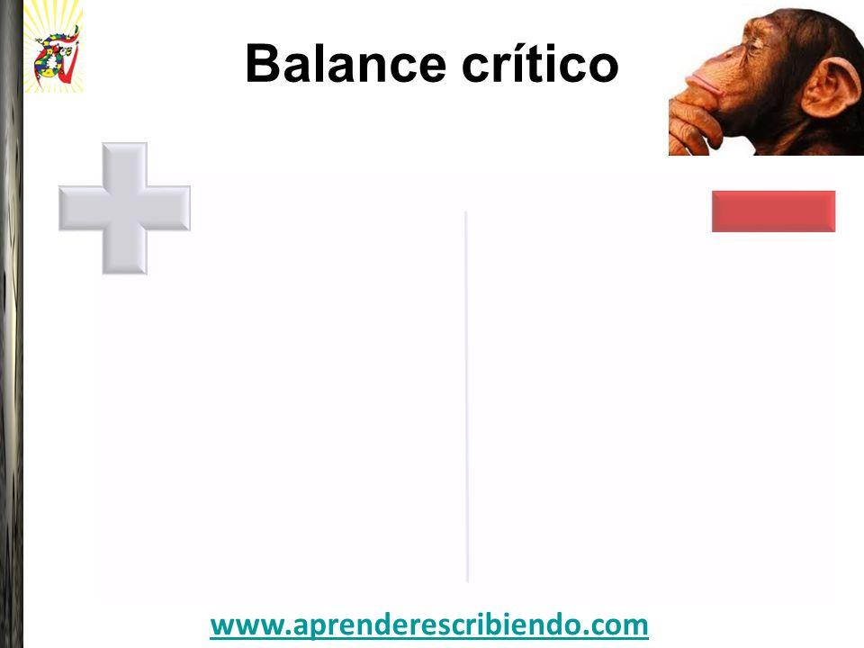 Balance crítico Favorece el desarrollo de las estrategias de expresión escrita en los aprendientes.
