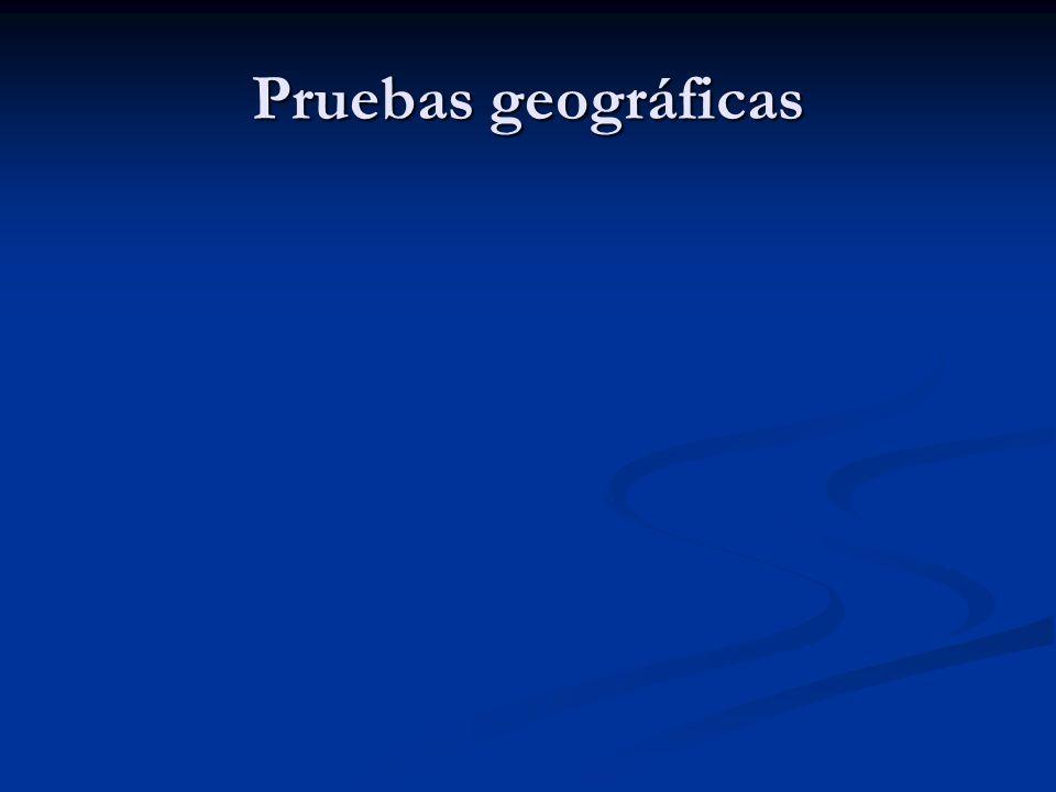 Pruebas geográficas