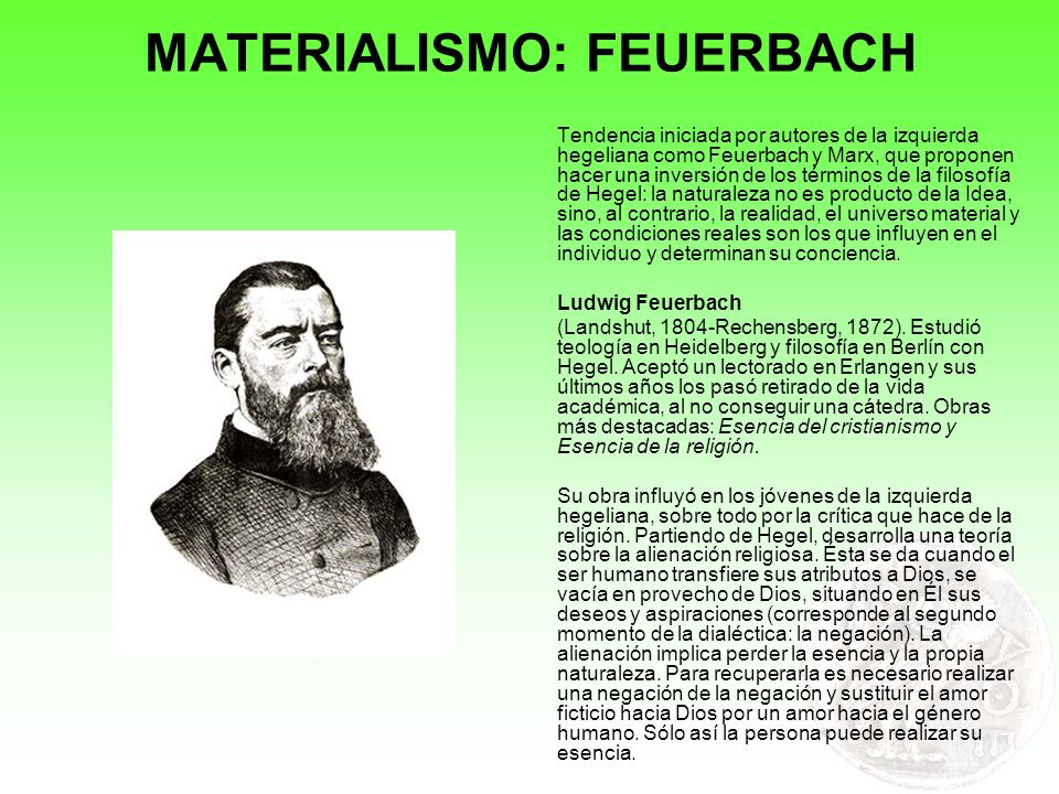 MATERIALISMO: MARX I (Tréveris, 1818-Londres, 1883).