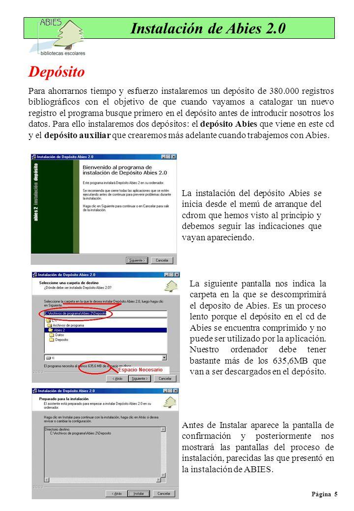 Página 6 Actualización de Abies 2.0 Desde que Abies 2 se puso en circulación hasta que ha llegado a nosotros se le han ido encontrando algunos errores, y para corregirlos se utilizan los parches, es decir, los archivos que corrigen esos errores.