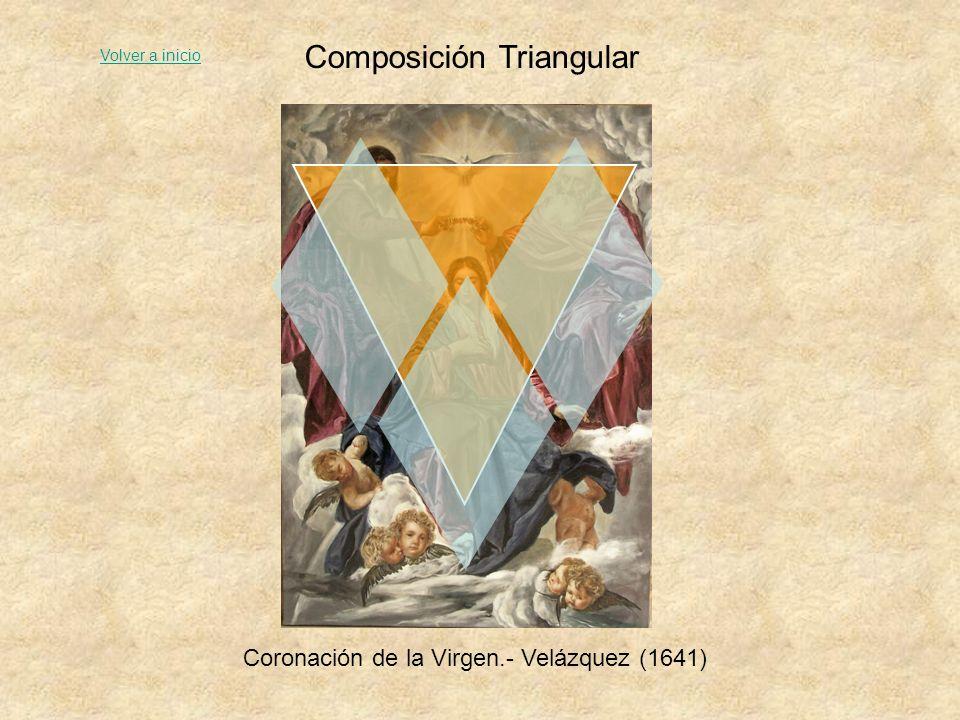 Composición Triangular Madonna del jilguero.- Rafael (1506) Volver a inicio