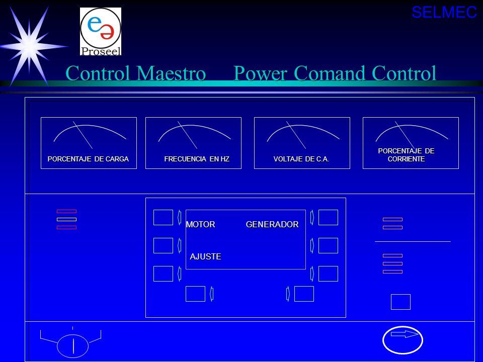 Detector de la Planta de Emergencia Monitorea el rendimiento del motor y la salida de corriente Monitorea el rendimiento del motor y la salida de corr