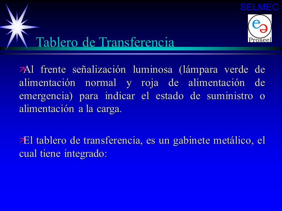 Tablero de Transferencia SELMEC