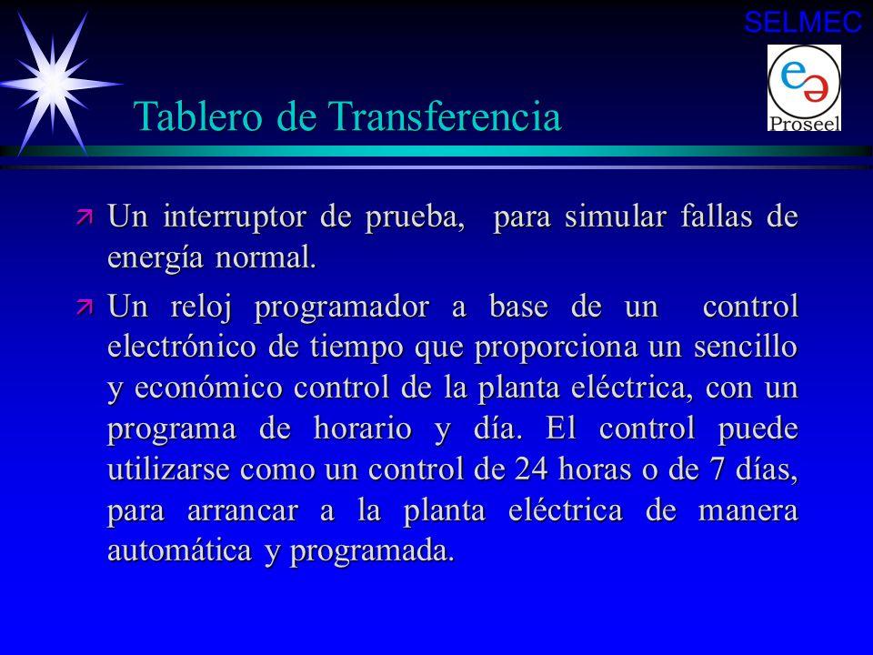 ä Un interruptor de transferencia para alimentar a la carga desde la fuente de suministro normal o la de emergencia, que dependiendo del voltaje, capa