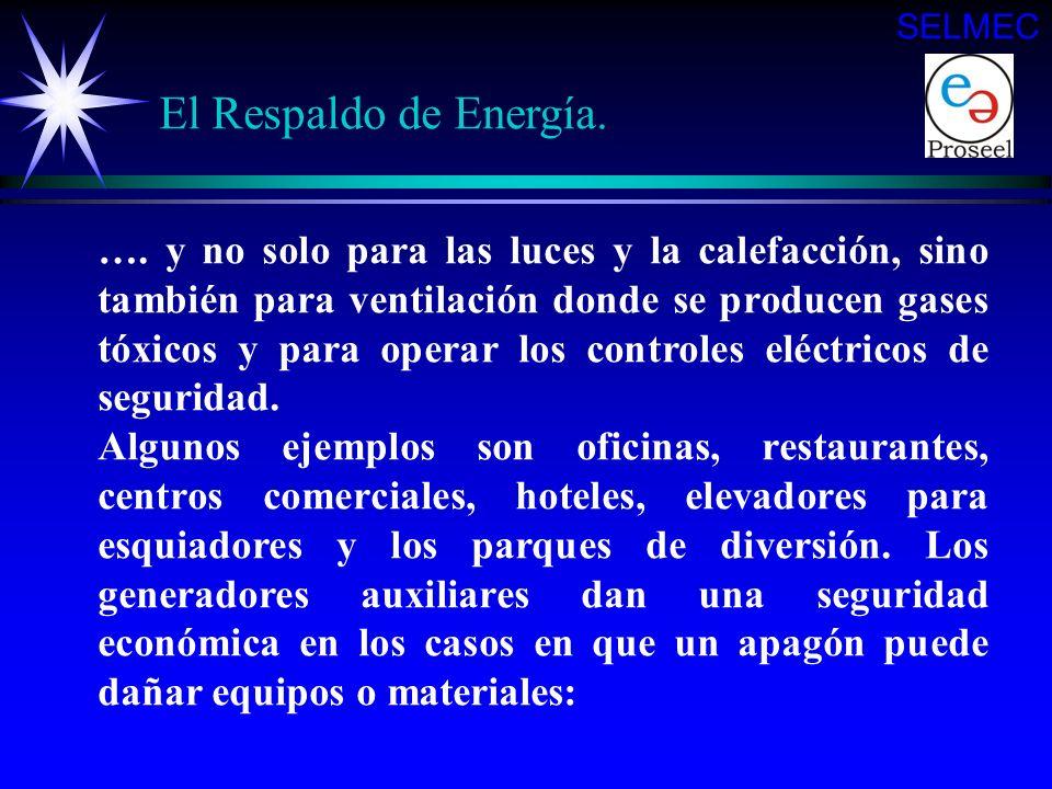 La energía auxiliar también es de vital importancia para las comunicaciones telefónicas, transmisiones de radio y televisión, plantas de tratamiento d