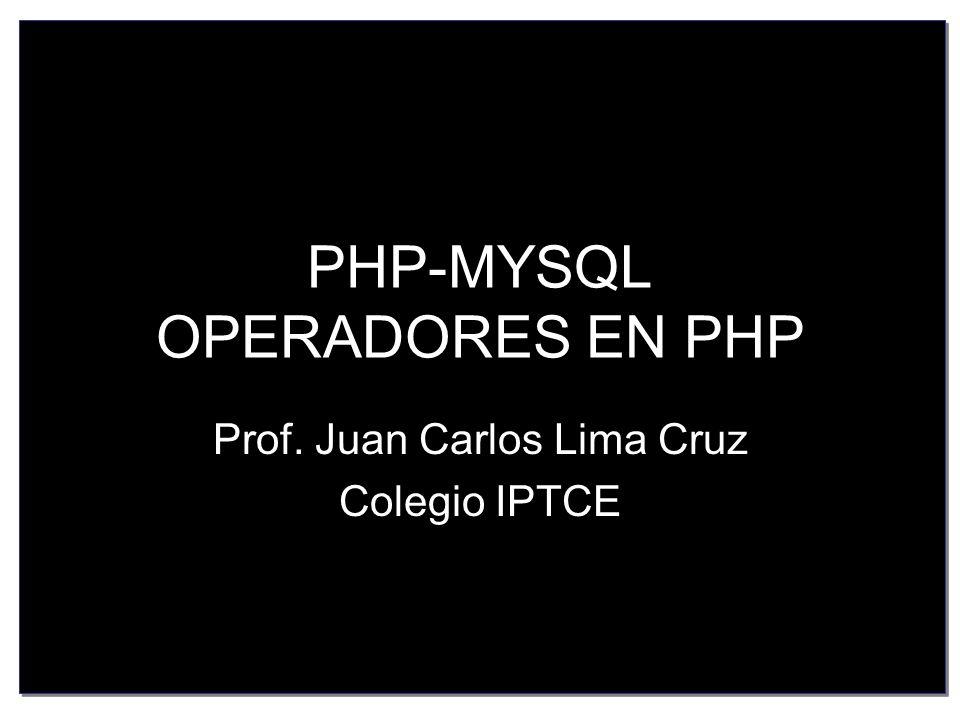 ARITMETICOS Los operadores de PHP son muy parecidos a los de C y JavaScript, si usted conoce estos lenguajes le resultaran familiares y fáciles de reconocer.