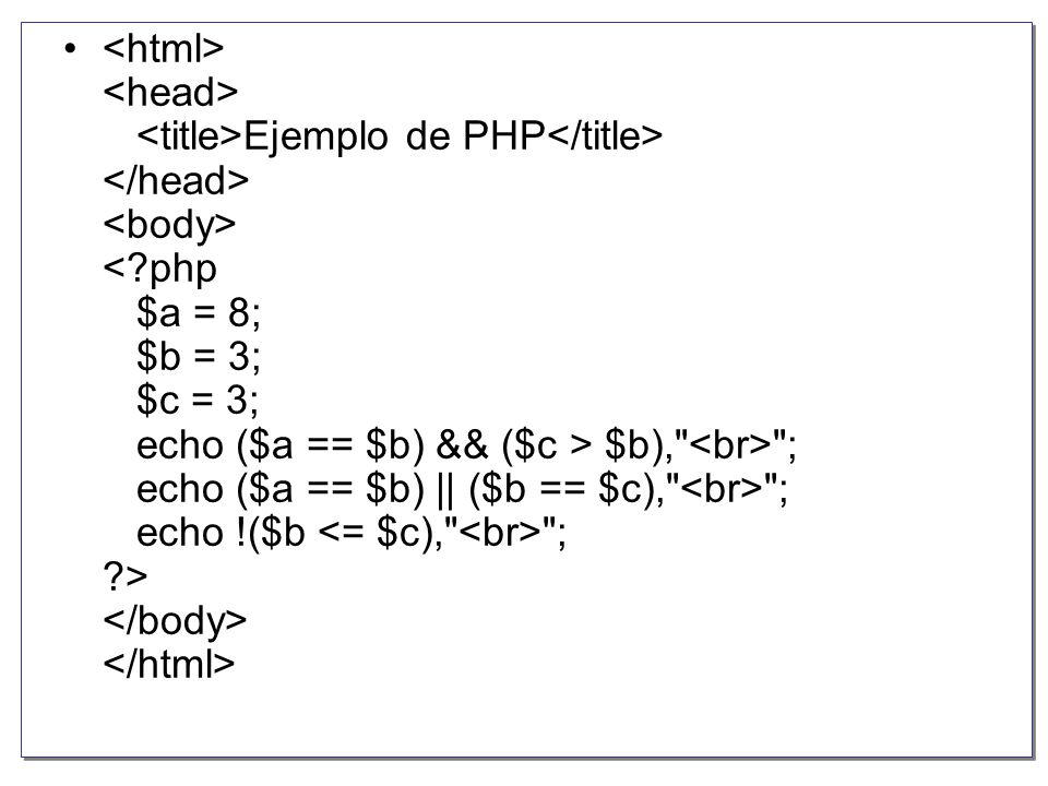 PHP-MYSQL INSTRUCCIONES PHP Parte 1 Prof. Juan Carlos Lima Cruz Colegio IPTCE