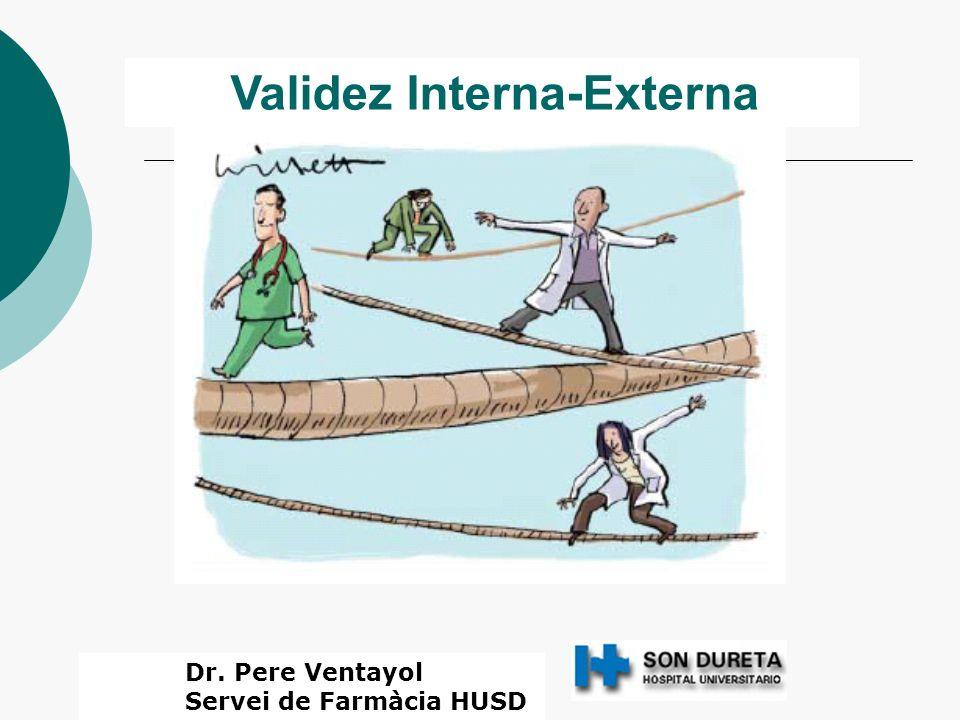 Validez Interna-Externa Dr. Pere Ventayol Servei de Farmàcia HUSD