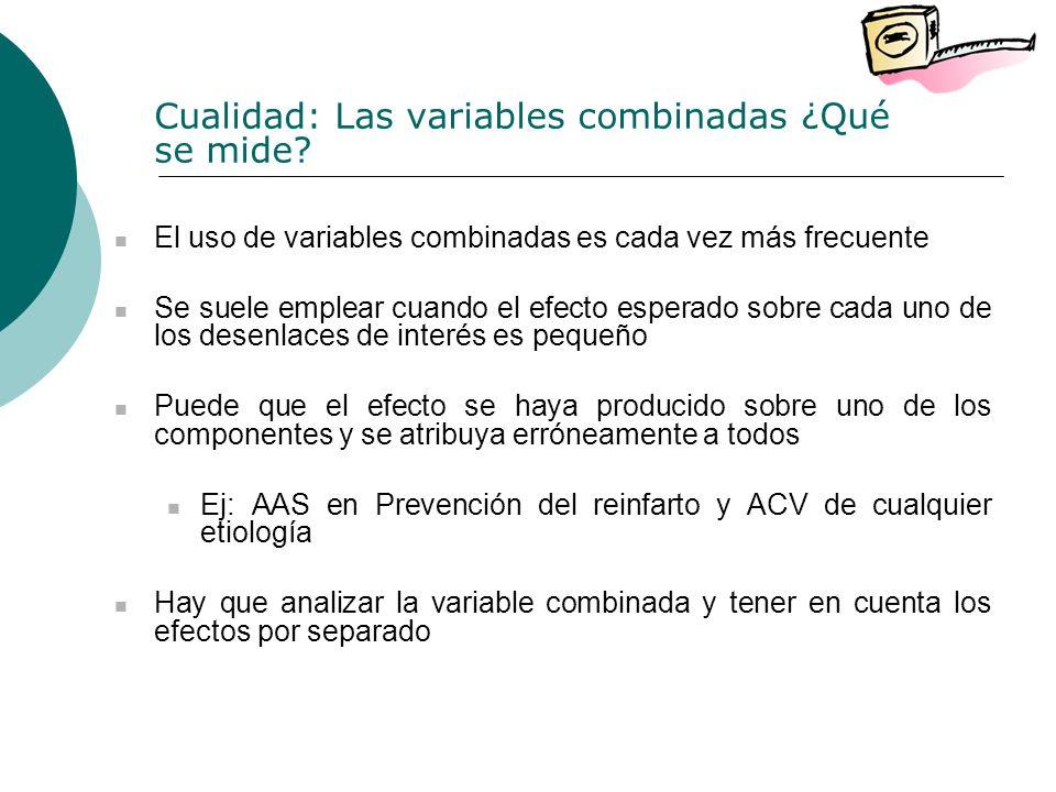 Cualidad: Las variables combinadas ¿Qué se mide.