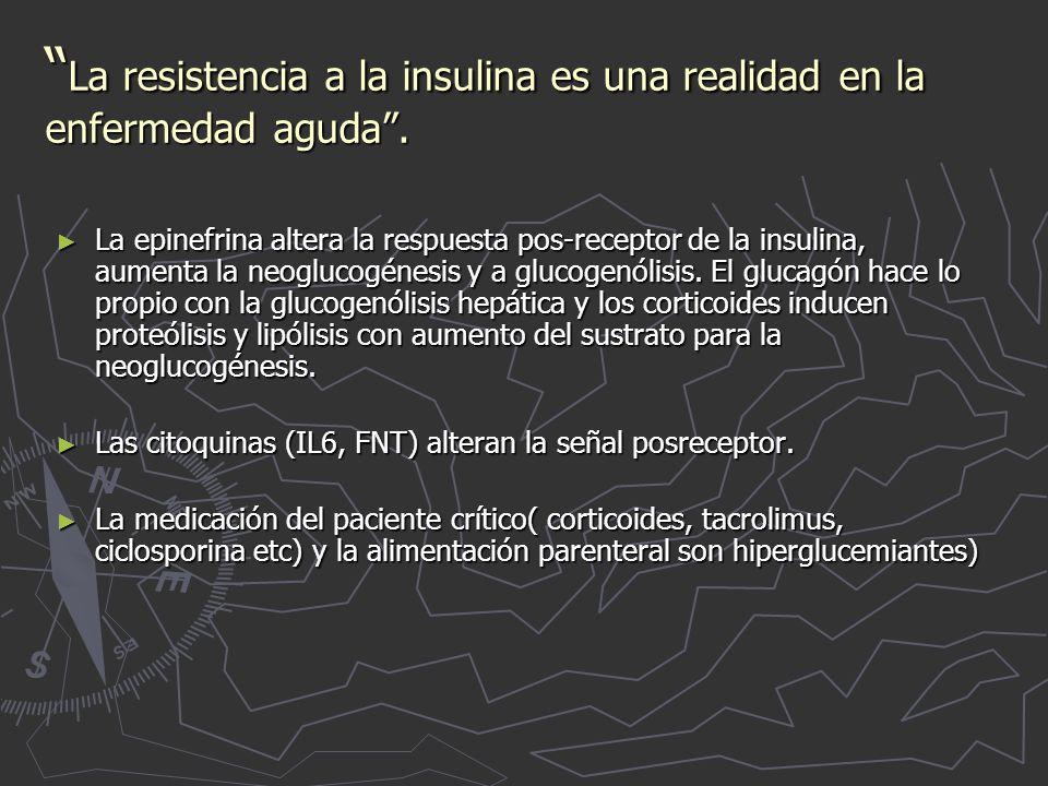 La resistencia a la insulina es una realidad en la enfermedad aguda.