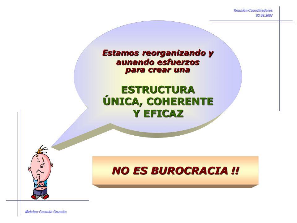 Melchor Guzmán Guzmán Reunión Coordinadores 03.02.2007 NOTIFICACIÓN DE INCIDENCIAS: NOTIFICACIÓN DE INCIDENCIAS: