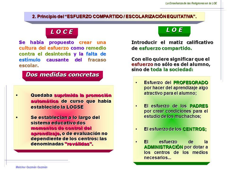 Melchor Guzmán Guzmán 2.Principio del ESFUERZO COMPARTIDO / ESCOLARIZACIÓN EQUITATIVA.