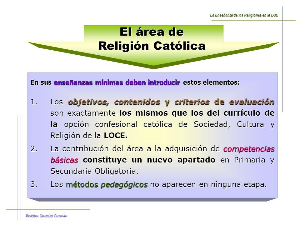 Melchor Guzmán Guzmán Ver Archivo Adjunto Las Religiones en el Currículo de la ERE La Enseñanza de las Religiones en la LOE