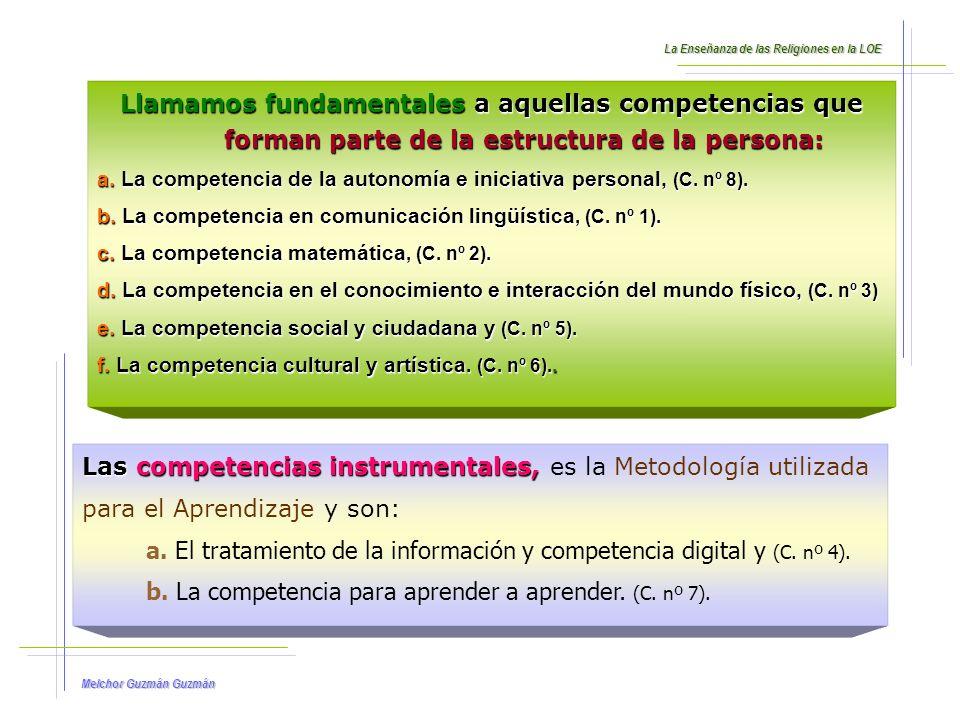Melchor Guzmán Guzmán 1.Descripción, finalidad y aspectos distintivos de cada competencia.