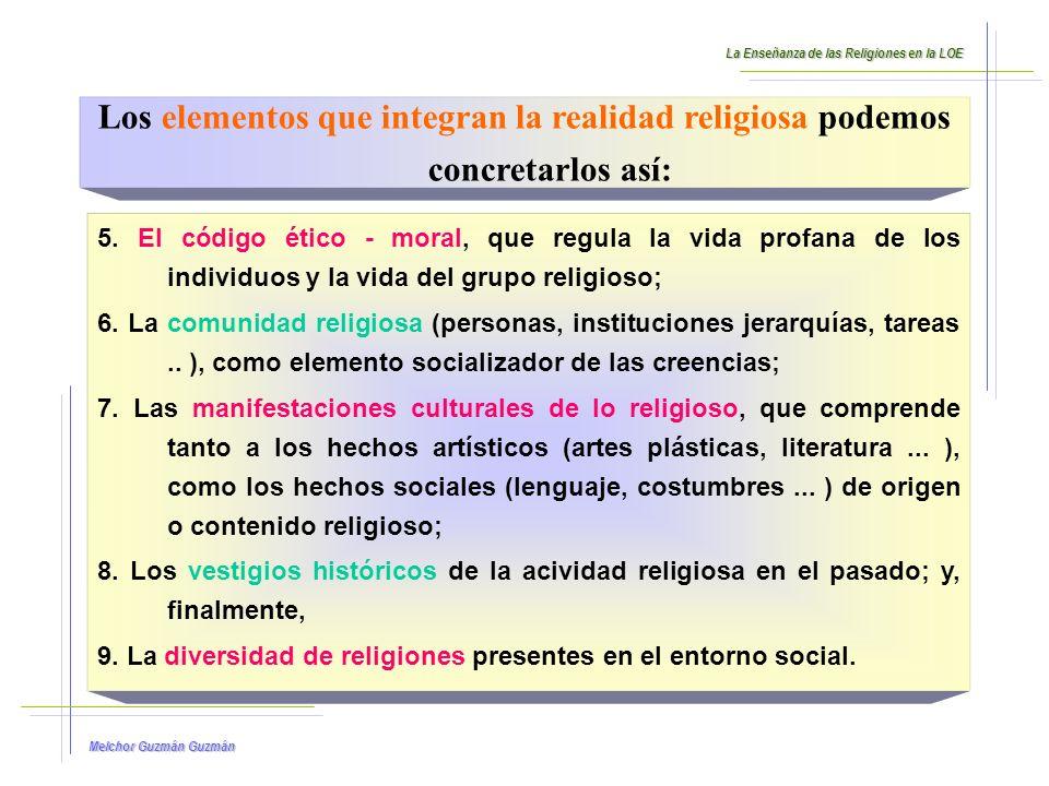 Melchor Guzmán Guzmán CONCLUSIÓN: La LOE nos ha exigido y exige incorporar las competencias básicas en la programación del área de Religión Católica y explicitar la contribución del área a su desarrollo.
