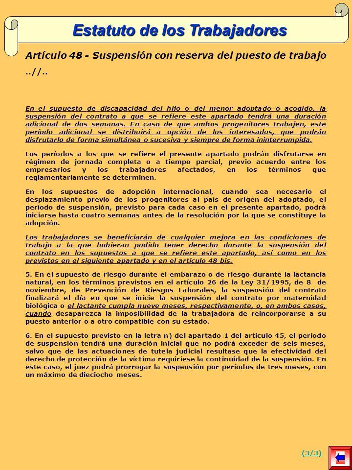 Artículo 48 - Suspensión con reserva del puesto de trabajo..//..