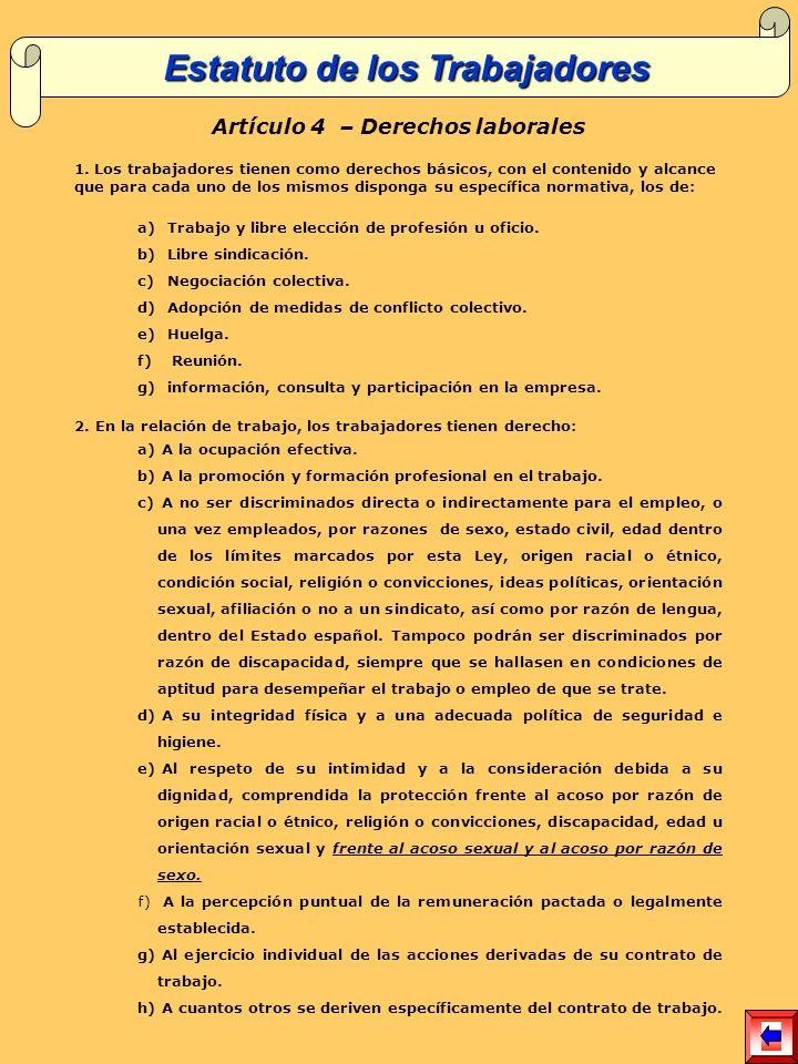 Artículo 4 – Derechos laborales 1.