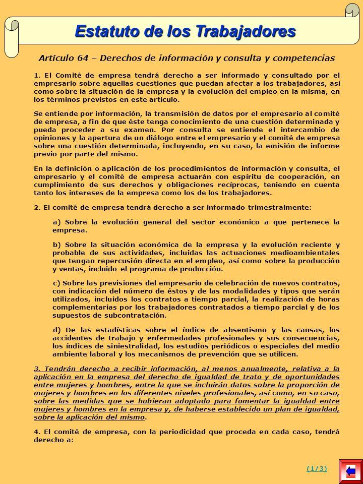 Artículo 64 – Derechos de información y consulta y competencias 1.