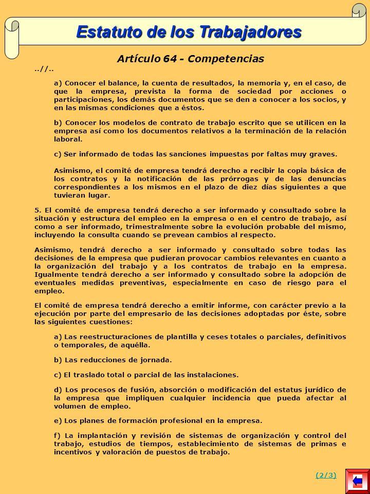Artículo 64 - Competencias..//..