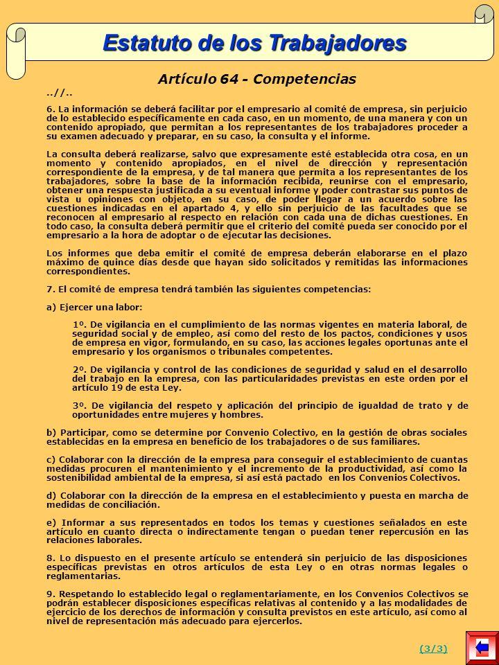 Artículo 64 - Competencias..//..6.