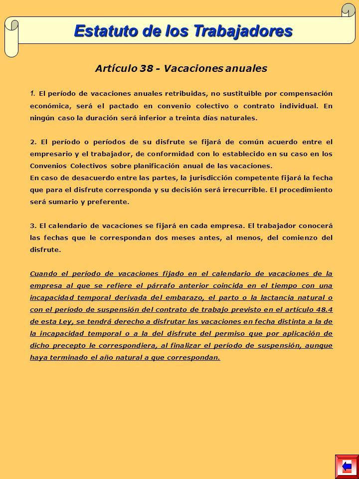 Artículo 38 - Vacaciones anuales 1.