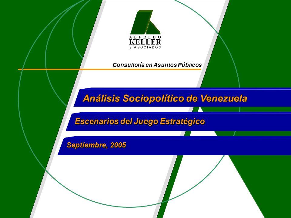 A L F R E D O KELLER y A S O C I A D O S Consultoría en Asuntos Públicos Análisis Sociopolítico de Venezuela Escenarios del Juego Estratégico Septiemb