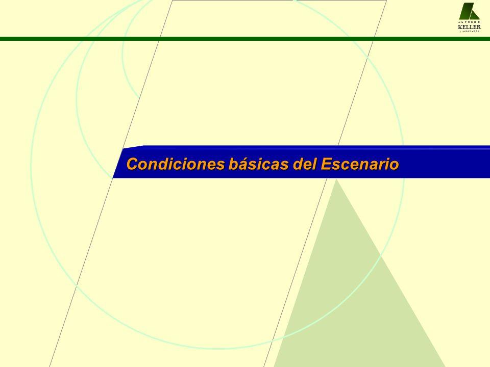 A L F R E D O KELLER y A S O C I A D O S Condiciones básicas del Escenario