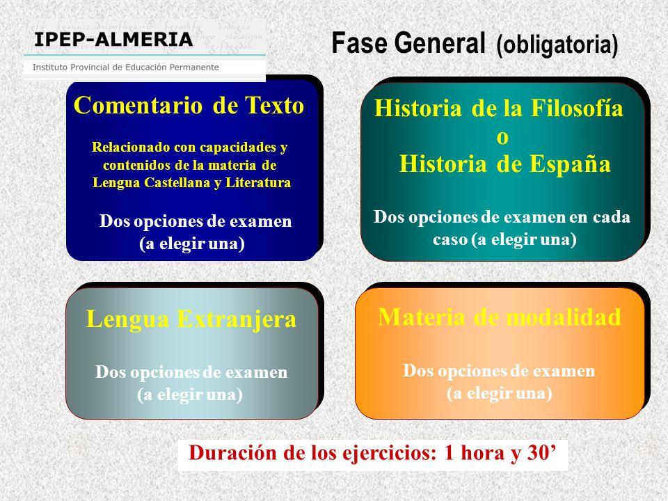 Comentario de Texto Relacionado con capacidades y contenidos de la materia de Lengua Castellana y Literatura Dos opciones de examen (a elegir una) Com