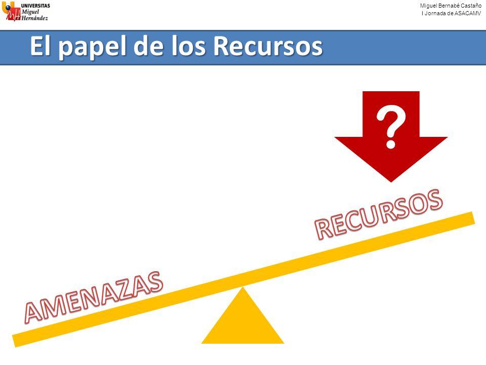 Miguel Bernabé Castaño I Jornada de ASACAMV El papel de los Recursos ?