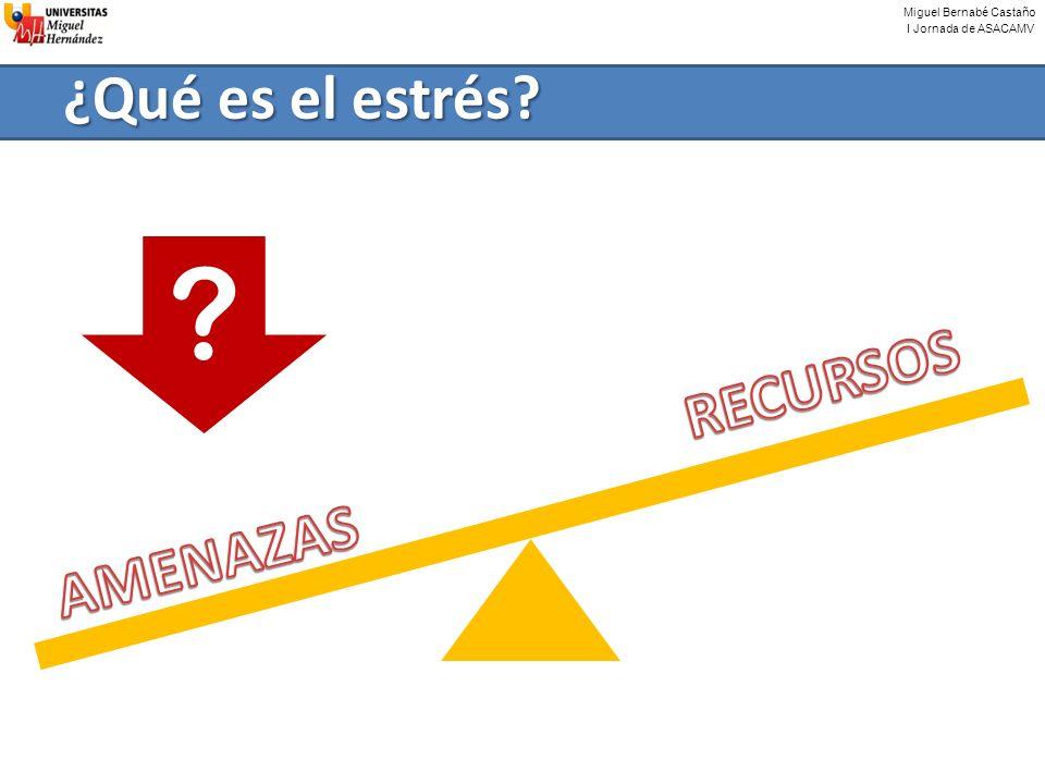Miguel Bernabé Castaño I Jornada de ASACAMV ¿Qué es el estrés? ?
