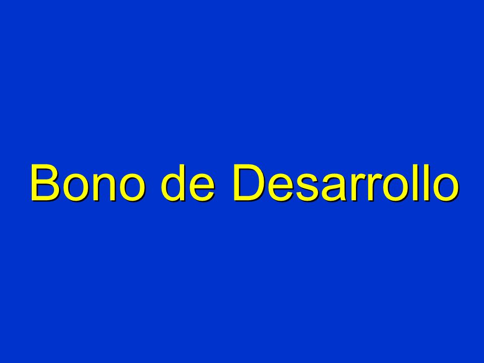 Bono de Desarrollo
