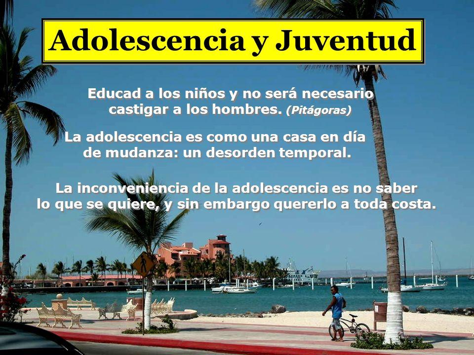 Adolescencia y Juventud La adolescencia es como una casa en día de mudanza: un desorden temporal.