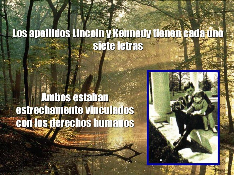 Abraham Lincoln fue elegido al congreso en 1846 John F. Kennedy fue elegido al congreso en 1946 Abraham Lincoln fue electo Presidente en 1860 John F.