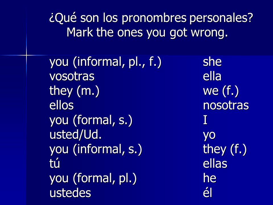¿Qué son los pronombres personales.¿Qué son los pronombres personales.