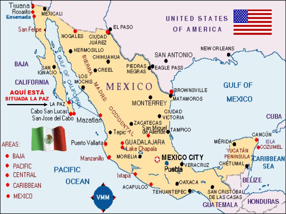Para su información les digo que La Paz, Baja California Sur (México) queda al sur de la Península del mismo nombre, entre el Océano Pacífico y el Gol