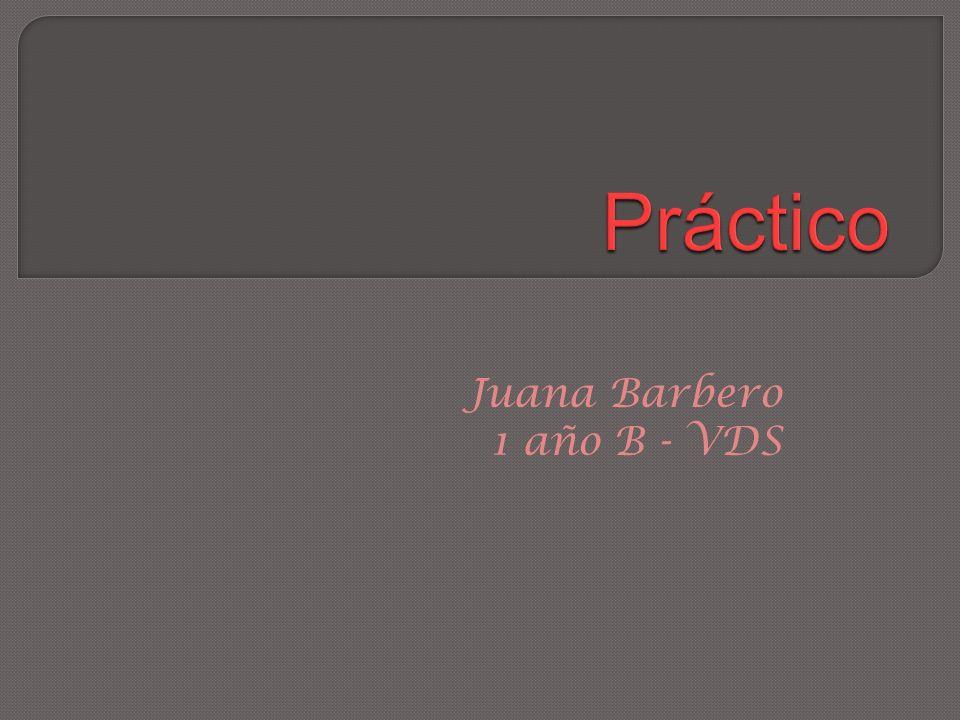 Juana Barbero 1 año B - VDS