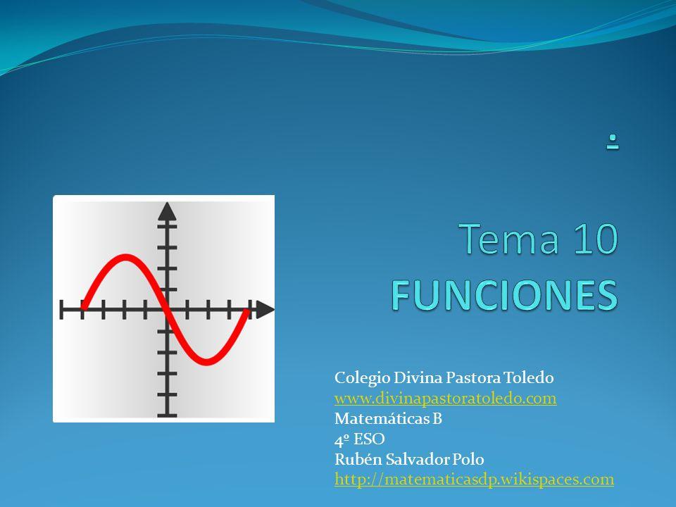 Colegio Divina Pastora Toledo www.divinapastoratoledo.com Matemáticas B 4º ESO Rubén Salvador Polo http://matematicasdp.wikispaces.com