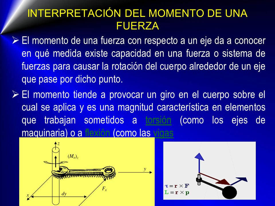DIRECCIÓN Y SENTIDO DEL PAR La cupla es un vector libre perpendicular al plano de la cupla y su sentido se determina mediante la regla de la mano derecha