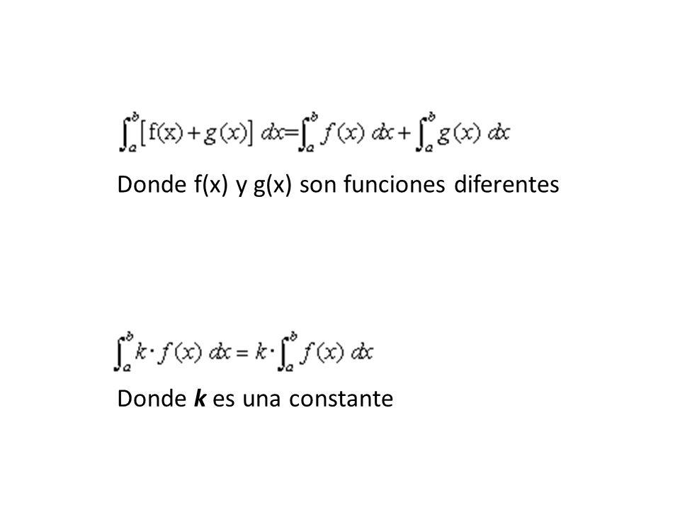Donde k es una constante Donde f(x) y g(x) son funciones diferentes