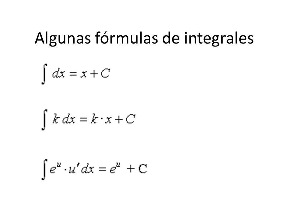 Algunas fórmulas de integrales