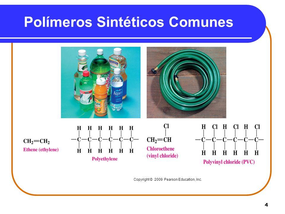 5 Polímeros Sintéticos Comunes Copyright © 2009 Pearson Education, Inc.