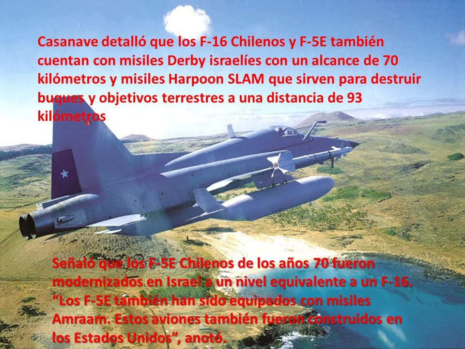 . Encima, la Fuerza Aérea de Chile tiene cuatro aviones tanqueros para abastecer de combustible a sus aeronaves después de cada ataque, remarcó Casana